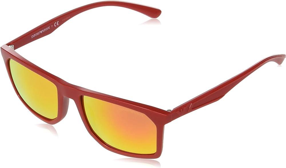 Emporio armani, occhiali da sole per uomo, rossi 0EA4164