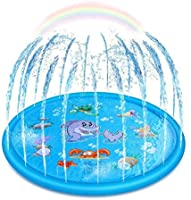 Upgraded Sprinkler for Kids, Sprinkler Pad & Splash Play Mat, Splash Pad, 170cm Toddler Water Toys Fun for 1 2 3 4 5...