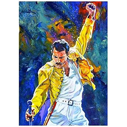 AWDIJF 5D Pittura Diamante Ricamo Fai da Te Cantante Freddie Mercury Mosaico Decorazioni per La Casa Regalo40X50Cm