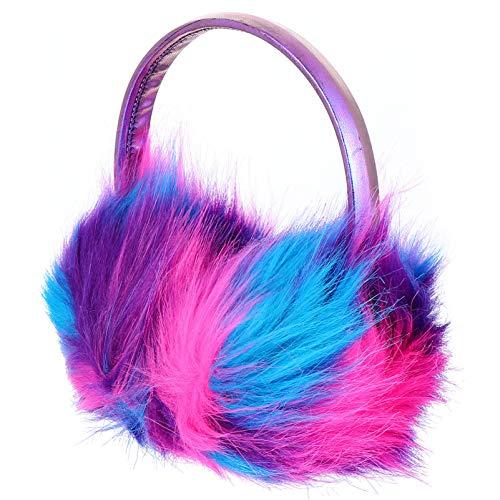 VALICLUD Ohrenwärmer für Frauen Winter Bunte Flauschige Ohrenschützer Kunstpelz Ohrenschützer Abdeckungen Verstellbar