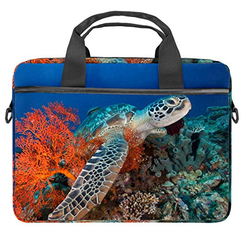 Laptop Bag Sea World Sight Sea Turtle Notebook Sleeve with Handle 13.4-14.5 inches Carrying Shoulder Bag Briefcase