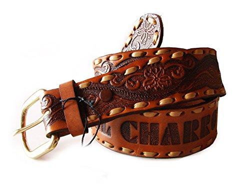CHARRO Cinturón El E311 Vintage Cuero cuero X-Small