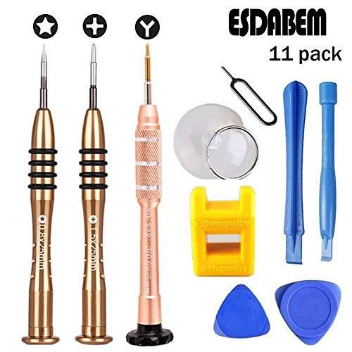 Esdabem Repair Tool Kit for iPhone 7 - Magnetic Premium Solid Screwdriver Set for Apple iPhone 7, iPhone 7Plus, iPhone 6Plus, iPhone 6S /6/5S/5/5C/4S/4/SE, iPod, iTouch