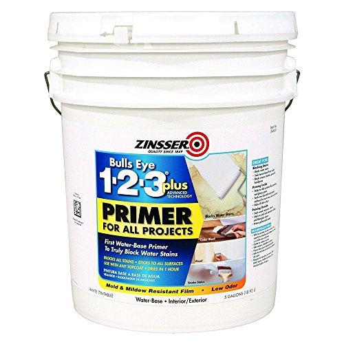 Zinsser 249935 5 Gallon White Bulls Eye 1-2-3� PLUS Primer