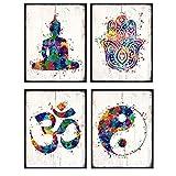 Zen Meditation Buddhist Wall Art Prints -...
