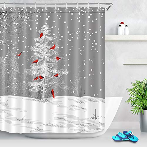 Winter Holiday Christmas Shower Curtain