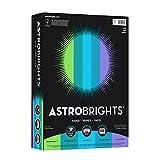 Astrobrights Color Paper, 8.5' x 11', 24 lb/ 89 gsm,'Cool' 5-Color Assortment, 500 Sheets(20274)