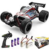 [4x4 HIGH SPEED RC CAR]: This 4 wheel drive high speed RC racing car is equipped with high quality and durable components to bring you a fantastic driving experience. The cool design of the car shell that you will be the focus of the people! With LED...