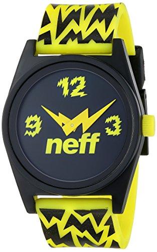 Neff Unisex-Erwachsene Analog Quarz Uhr mit Polyurethan Armband VNF0208_BTLT-one Size