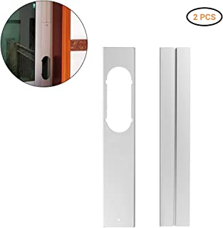 Oyria Kit de 2 piezas para ventana de aire acondicionado portátil, placa de sellado de tubo de escape, adaptador de ventana ajustable, unidad de aire acondicionado móvil