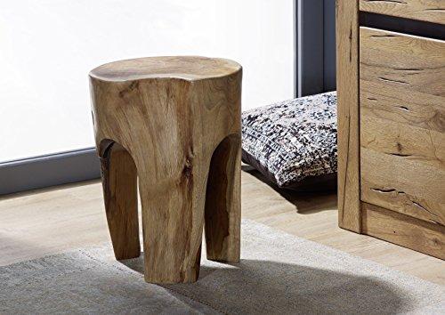 Tabouret - Racine de Teck laqué (Bois Naturel) - Design Moderne et Naturel - UNIKA #154