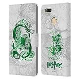 Étui Portefeuille en Cuir Officiel Harry Potter Slytherin Aguamenti pour Xiaomi Mi A1 / Mi 5X