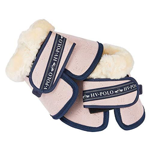 HV Polo Hufglocken Springglocken Welmoed Glitzerpartikel weißes Kunstfell Klettverschlüsse (Warmblut, Pink)