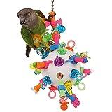 Parrot Essentials Boulons, écrous et Binkies Puzzle Jouet pour Perroquet–Large