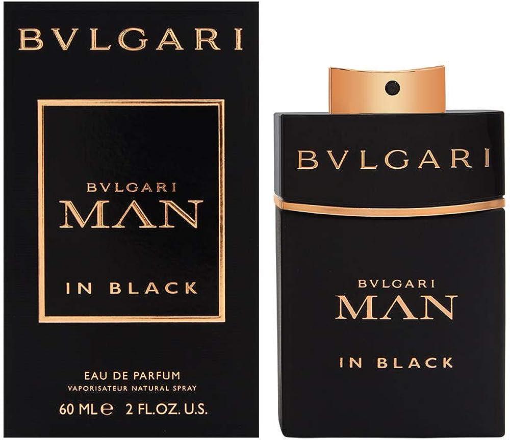 Bvlgari man in black, eau de parfum, profumo per uomo, 60 ml 15136m