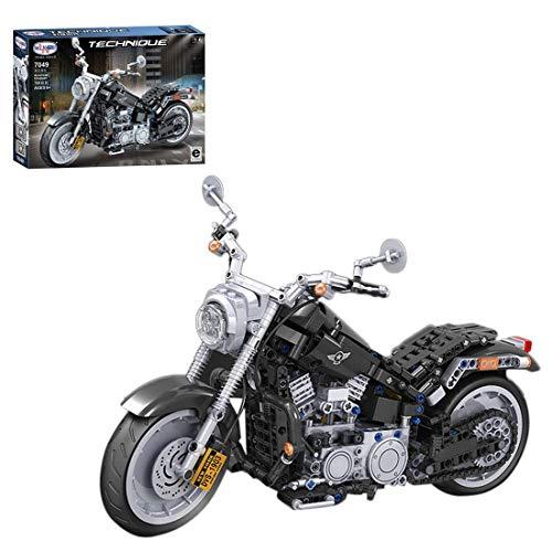 CYGG Bloque de construcción de Motos Technic, 709 PCS 1: 6 Modelo de Motocicleta de Carreras de Estilo Americano, Conjunto de construcción Compatible con Lego