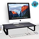 """Computer Monitor Stand Riser - 23.6"""" Inch Wide & 4.7""""High Portable Anti-Slip Monitor Computer Desk WorkStation Riser,For Laptop Printer Monitors, With KeyBoard Storage Space For Home Office PDRIS01"""