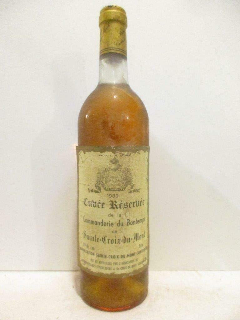 sainte-croix du mont la commanderie du bon temps cuvée réserve liquoreux 1989 - bordeaux