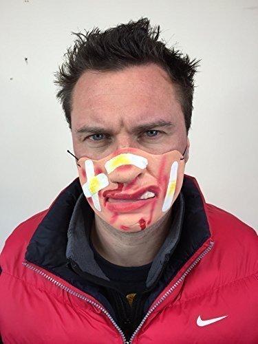 Rubber Johnnies TM Funny Face Bandes de plâtre Demi-Masque en Latex Fancy Dress cerf