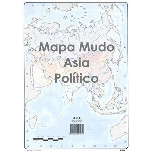 Mapa Mudo SELVI Color Din-A4 Asia Político, Caja x50