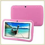 Jcw Tablet infantil pantalla de 7 ', Android 4,4 Kitkat, Quad Core, wi-fi, doble cámara,...