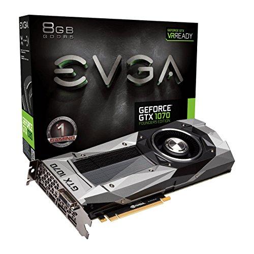 EVGA GeForce GTX 1070Gründer Edition 8GB GDDR51683MHz Boost, 1506MHz Boden, DP, HDMI, DL DVI PCI-E Grafikkarte