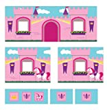 DHP Princess Castle Design Curtain Set for Junior Loft Bed, Kids Furniture, Pink