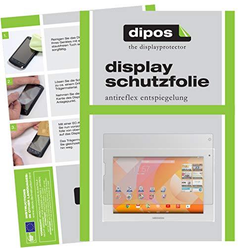 dipos I 2X Schutzfolie matt kompatibel mit Medion Lifetab P8912 (MD 99066) Folie Bildschirmschutzfolie