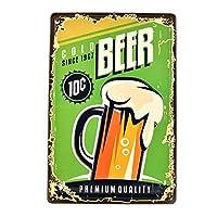 プレミアム品質の冷たいビールポスタービンテージティンサイン