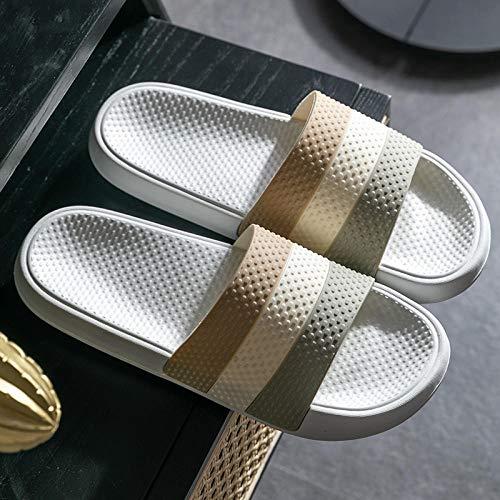Cxypeng Sandalias de Ducha Mujer,Los Hombres Usan Sandalias y Zapatillas para el hogar, Zapatos Antideslizantes para el baño para el baño-37-38_White,Antideslizantes Chanclas casa Baño