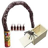 いたずらグッズセット 笑える おもしろ ビックリ サプライズ ゴキブリ クモ ヘビ おもちゃ ビックリ箱