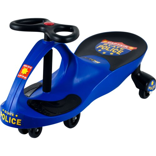 Police Car Ride Toy on Wiggle Car by Lil? Rider - Ride on Toys for Boys and Girls, 2 year old and up