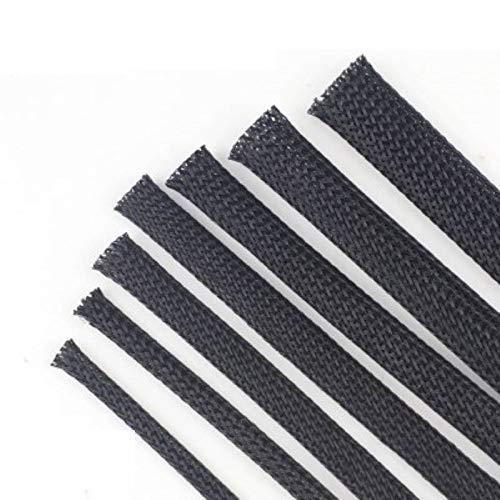 10 m cable manga negro protección de alambre PET nylon cable mangas cable cable cable trenzado manga 3/4/6/8/10/12/16/20/25mm 6MM