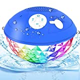 Bluetooth Pool Speaker Floatable,IPX7 Waterproof Portable Wireless Shower Speaker with Colorful Lights, Built-in Mic Hot Tub Speaker with Loud Stereo Sound for Pool Beach Home Party Travel Outdoors