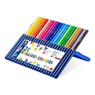 ステッドラー 色鉛筆 24色 三角軸 油性色鉛筆 エルゴソフト 157 SB24