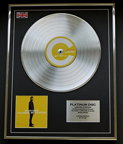 CRAIG DAVID/Limitierte Edition Platin Schallplatte/FOLLOWING MY INTUITION