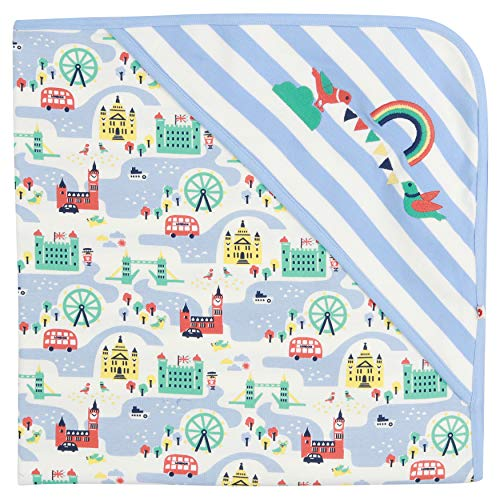Piccalilly London Theme Baby Blanket with Integrated...