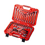 MAXPOWER 60pc Automobile Tool Set - 1/2' & 1/4' DR Sockets and 8mm-19mm...