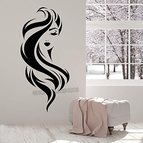 Yaonuli Meisjes vinyl Muurtattoos Mooi gezicht Meisjes schoonheid make-up salon sticker verwijderbare muurschildering