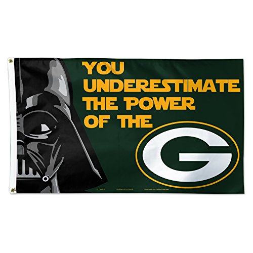 NFL Green Bay Packers Star Wars Darth Vader Flag Deluxe, 3 x 5-Foot