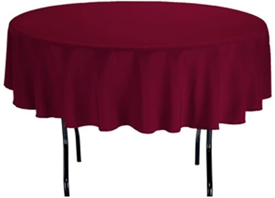 TEKTRUM 70 INCH ROUND POLYESTER Super sale period limited TABLECLOTH - DU HEAVY THICK price DUTY