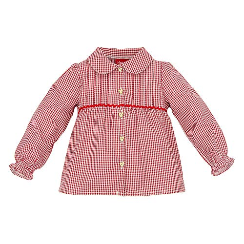 BONDI BONDI Karobluse, karo rot/weiss 74 Tracht Baby Mädchen Artikel-Nr.86023