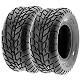 Pair of 2 SunF A021 TT Sport ATV UTV Dirt & Flat Track Tires 25x10-12, 6 PR, Tubeless