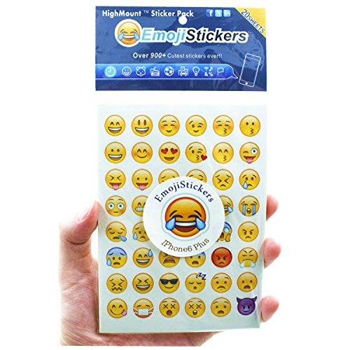 Emoji-Sticker 20Blatt mit gleichen Happy Faces Kinder Aufkleber von iPhone Facebook Twitter