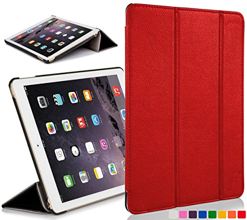 Forefront Cases Hülle für Apple iPad Mini Retina 2. Generation A1489 Schutzülle Cover Case & Ständer - Leicht Dünn, Rundum-Geräteschutz & Auto Schlaf Wach Funktion - Rot