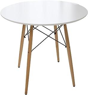 アイリスプラザ テーブル イームズ ダイニングテーブル 丸型 ホワイト 直径約80×高さ約71cm DT-02B