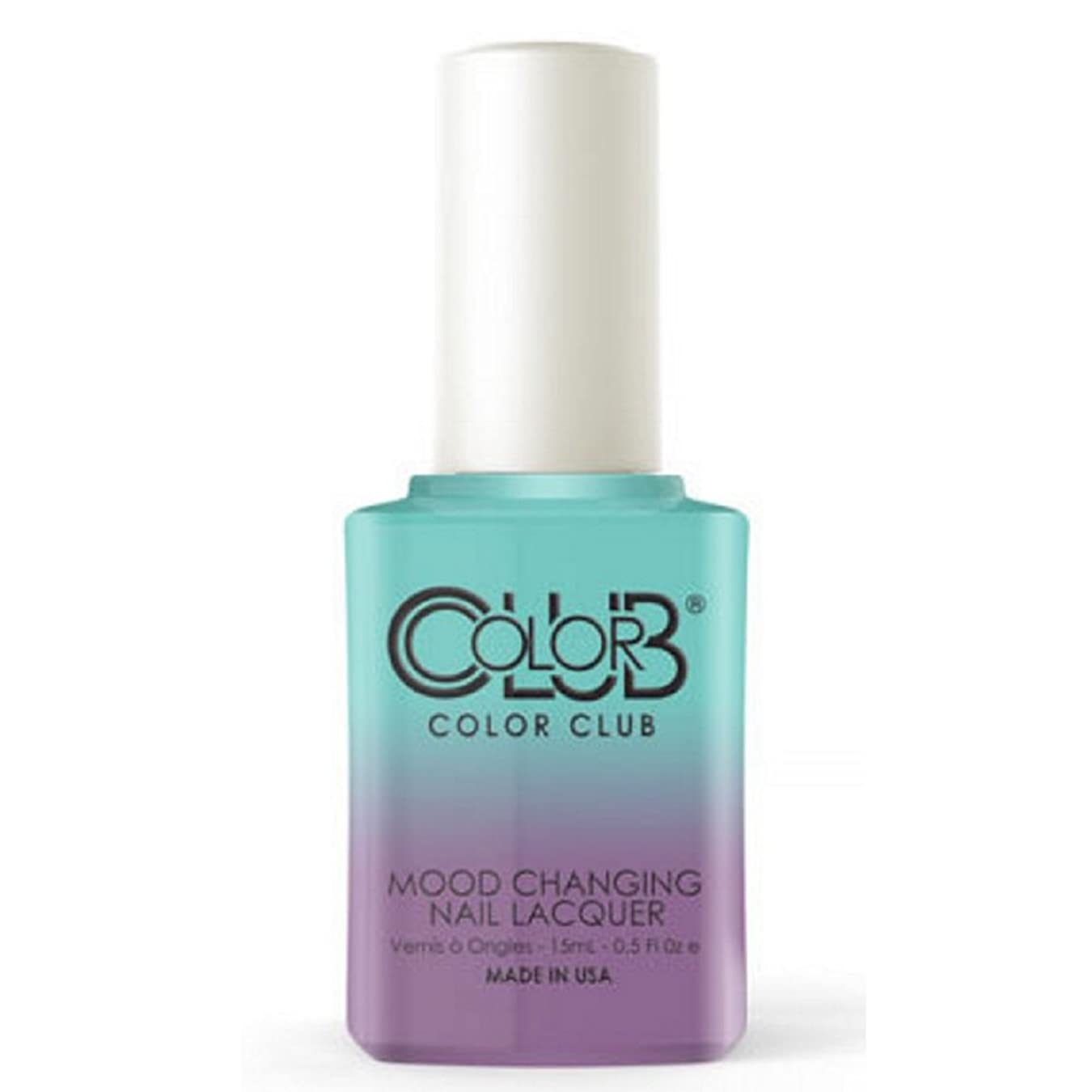 サンダル冷蔵庫誘惑Color Club Mood Changing Nail Lacquer - Serene Green - 15 mL / 0.5 fl oz