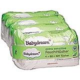 Babydream extra sensitive Feuchttücher 320 Stück 4x80 Tücher für empfindliche Haut, schonende...