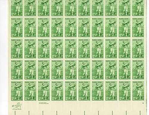 Bobby Jones Sheet of Fifty 18 Cent Stamps NEW Scott 1933 by USPS