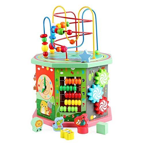 Abacus juguetes de juguetes juguetes intelectuales bebé educación temprana hexahedron Regalos educativos para niños y niñas Juguetes educativos (Color: Multicolor, Tamaño: 26x38cm) Desarrollar